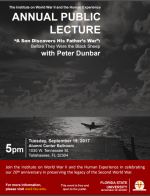 Peter Dunbar to Give WWII Institute's Annual Public Lecture